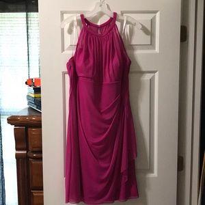 Fuchsia David's Bridal Bridesmaid Dress Size 18